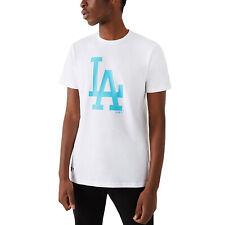 New Era Hommes la Dodgers MLB Équipe Logo Ras Cou T-Shirt - Blanc