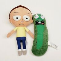 """Rick And Morty Pickle Rick w/ Morty Officially Licensed Plush Dolls 7"""" & 9"""" Tall"""