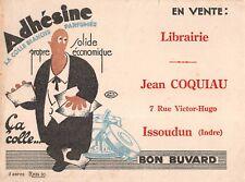 BUVARD Publicitaire - Adhésine, colle Blanche - Librairie Jean COQIAU à Issoudun