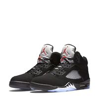 NIKE AIR JORDAN V RETRO METALLIC SILVER OG MEN'S SHOE [SIZE 14] BLACK 845035-003