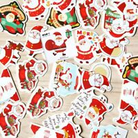 96pcs Christmas Paper Stickers Decoration Decal Home Decor Xmas Santa Claus