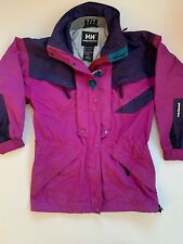 Vintage 1990s Helly Hansen Equipe Ski Jacket Magenta Men's Size XS Color Block