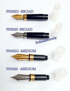 Schmidt FH202 / F452 Fountain Pen NIB, BROAD / MEDIUM Option:Steel / Gold Plated