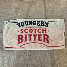 Vintage Young's Scotch Bitters British Bar Towel