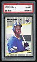 1989 FLEER KEN GRIFFEY JR. #548 SEATTLE MARINERS HOF ROOKIE RC *PSA 10 GEM MINT*