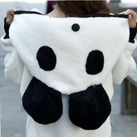 Women Hoodie Coat Winter Warm Sweatshirt Sweater Panda Jacket Tops Outerwear US