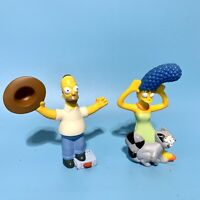 """Lot of 2 Burger King The Simpsons Movie Marge & Homer 4.5"""" Toy Figures 2007"""