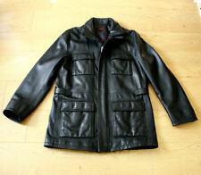 Torras Men's Natural Black Leather Coat EUR 52 US 42