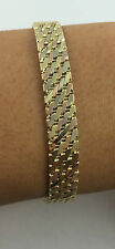 Pre Owned Multi Tone 14k Solid Yellow Gold Bracelet 7 Inches 23.50 Grams