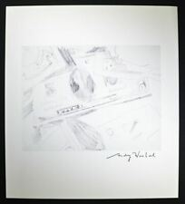 "Andy Warhol, Signed Print ""Dollar Bills"" (pencil sketch of $5 and $1 Bills), COA"