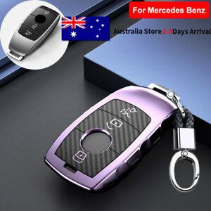 TPU Remote Key Cover Case Fob For Mercedes Benz A C E S Class GLC GLA CLA Purple