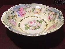 Antique Iridescent Center Bowl Fruit Salad Candy Dish Made in Bavaria