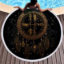 Dreamcatcher Feathers Moon Stars Hearts Buddha Bath Swim Beach Towel Blanket