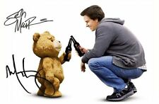 TED - SETH MACFARLANE & MARK WAHLBERG SIGNED A4 PP POSTER PHOTO