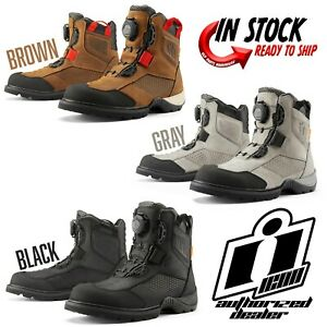 2021 ICON STORMHAWK WATERPROOF MOTORCYCLE STREET BOOT - PICK SIZE / COLOR