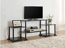 Black TV Console Stand Home Furniture Entertainment Center Shelves Storage  Book