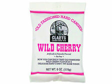 3 packages of Claeys Sanded Wild Cherry Drops Hard Candy with Free Shipping