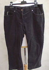 ° BURBERRY °- Pantalon, pantacourt velours marron Taille 42 FR