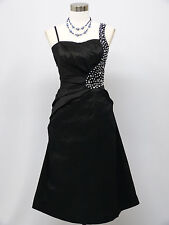 Cherlone Black Party Cocktail Prom Ball Evening Wedding Bridesmaid Dress Size 8