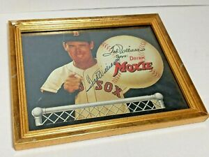 TED WILLIAMS SIGNED AUTOGRAPHED FRAMED MOXIE PHOTO - NO COA 11-in x 9-in