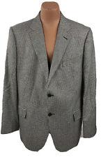 John Nordstrom Men's 46 Long Cashmere Silk Sports Coat Blazer Gray D08