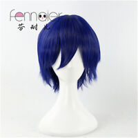 Blue Short Hair Male Cosplay Wig Role natural gothic synthetic fashion party