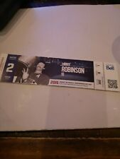 Montreal Canadiens 2015 Season  Unused Ticket Stub  LARRY ROBINSON
