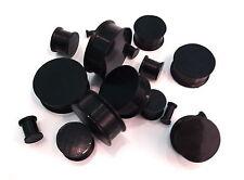 PAIR (2 pcs) Superflex Black Silicone Ear Flesh PLUGS