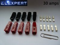 10 X ANDERSON POWERPOLE 30AMP ELECTRICAL CONNECTOR PLUG_GOLF TROLLEY_KIT CAR_RC