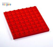 LEGO DUPLO Placa 8 x 8 botones en Rojo Placa de construcción NUEVO
