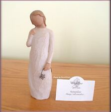 REMEMBER FIGURINE WITH FLOWER FROM WILLOW TREE® ANGELS FREE U.S. SHIPPING