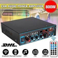 800W Stereo Verstärker Bluetooth Digital Power Amplifier HiFi FM Audio Amplifier
