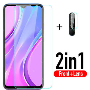 Full Cover Tempered Glass & Camera Lens Screen Protector For Xiaomi Redmi 9 AU