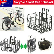 Foldable Bicycle Quick Release Bike Basket Front or Rear Extra Storage Baskets