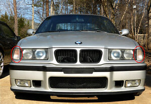 BMW E36 3 SERIES 1992-1998 EURO CLEAR FRONT CORNER LAMPS SEDAN TOURING COMPACT