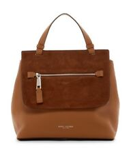 Marc Jacobs Large Waverly Top Handle Leather Suede Satchel Bag, Maple Tan $1050
