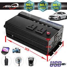 2000W (4000W Peak) Power Inverter Car DC 12V to 220V AC Converter USB Charger*4