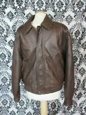 WINLIT Leather FLIGHT Bomber JACKET Mens M Brown insulated 1980's distressed