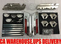 Chrome Latches Cover Hinge Saddlebag Latch Hardware Set Fit for Harley Touring