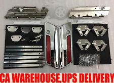 Chrome Latches Cover Hinge Saddlebag Latch Hardware Set Fit for Harley Touring
