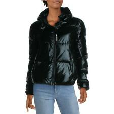 Juicy Couture Black Label Women's Quilted Metallic Down Insulated Wide Collar