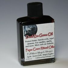 Devil Be Gone Oil Anoint Candles Use Spells Wicca Voodoo Full Moon Protection
