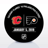 Philadelphia Flyers Issued Unused Warm Up Puck 1/5/19 Vs Calgary Flames
