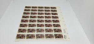 USA~1776-1976~BICENTENNIAL~HERKIMER AT ORISKANY BY YOHN~FULL SHEET~13 CENT~MNH