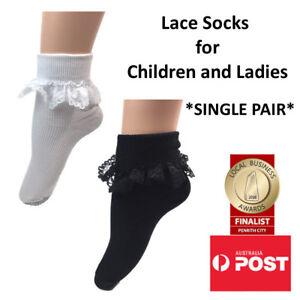 Frilly Lace Socks for Girls and Ladies School Socks Dance Socks SINGLE PAIR