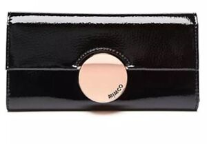 MIMCO Black Waver Wallet Large Rose gold Patent Leather BNWT Authentic RRP$199