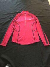 Women's Icebreaker GT 200 BASE LAYER Half Zip Size M Medium Top Shirt Pink Half