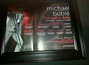 Michael Buble 2015 Asia Concert Tour Original Rare Promo Poster Ad Framed!