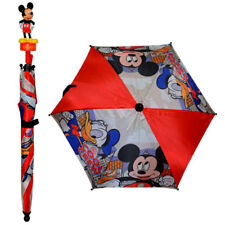 "Disney Children Kids 22"" Umbrella w 3D Figure Molded Handle Mickey Mouse NEW"