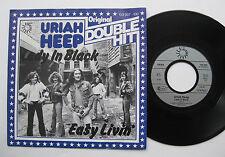 """7"""" Uriah Heep - Lady In Black / Easy Livin' - VG++ Original Double Hit"""